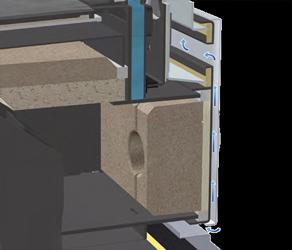 Puerta de la cámara de carga y limpieza refrigeradas por aire
